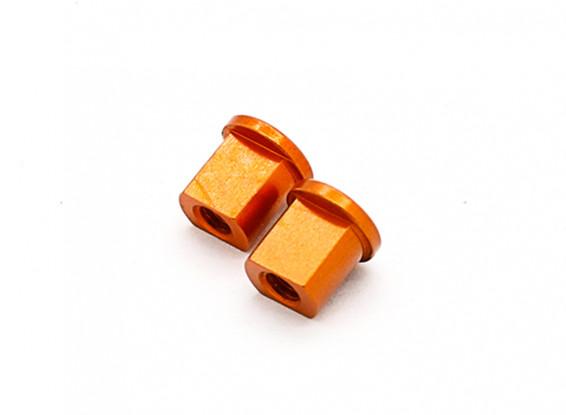 XRAY X12 1/12 Pancar '15 - Alu. Эксцентриковая втулка 0,0 мм - оранжевый (2 шт)