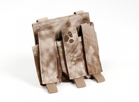 Спецназ 500D Нейлон Молле Handgun Тройной Mag мешок (Kryptek Nomand)