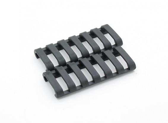 Ergo 7 слотами LowProfile Ladder рельс крышки (2 шт / мешок, черный)