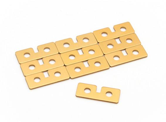 Металлическая пластина (Servo золото) 10шт