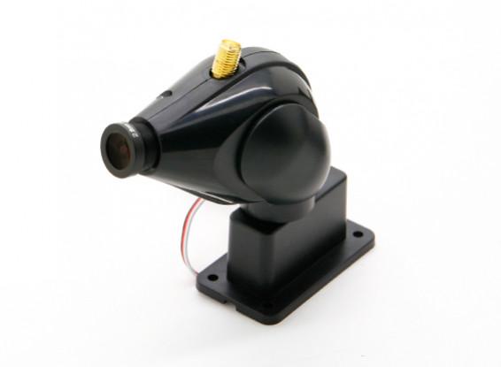 HD FPV камеры системы С 32ch 5.8GHz передатчик и панорамирования и наклона функции (черный)