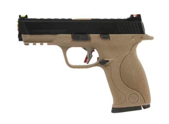 МЫ WET-3A (M & P) GBB пистолет (черный слайд / золото баррель / Тан кадр)