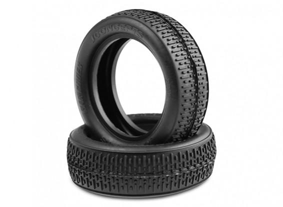 JCONCEPTS Штрих-коды 1 / 10th 2WD багги резина спереди - черный (Mega Soft) Соединение