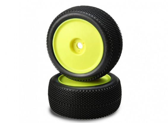 JCONCEPTS Субкультуры 1/8-Truck Pre-Mount Шины - зеленый (Super Soft) Соединение (желтый)