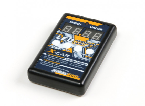 HobbyKing® ™ X-Car Beast Series Digtal Светодиодный дисплей Карточка программы