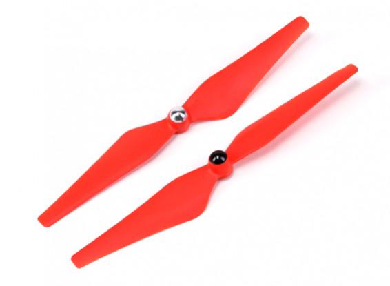 Hobbyking ™ Само Затягивание Propeller 9x4.5 Красный (CW / CCW) (2 шт)