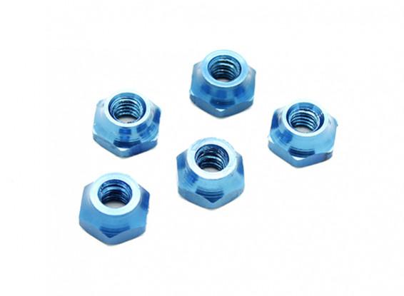 M4 алюминиевая гайка синий (5 шт)