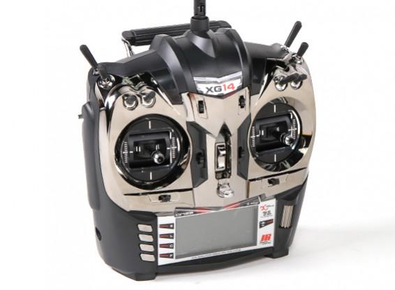 JR XG14 14ch DMSS XBUS передатчик Mode 2 с RG731BX приемник