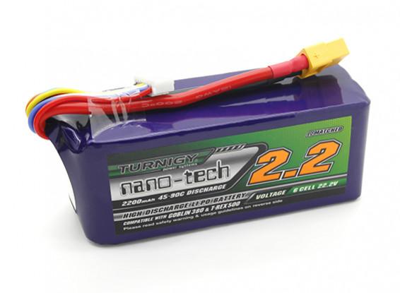 Turnigy нано-технологий 2200mAh 6S 45 ~ 90C LiPoly батареи