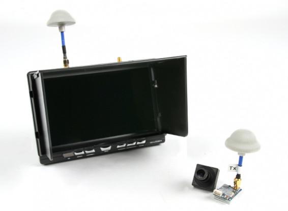 """Quanum FPV 5.8GHz передатчик AV, 7 """"HD монитор 5.8GHz / Diversity приемник и камера Bundle Set"""