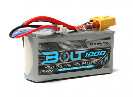 Turnigy 1000mAh 3S Болт 11.4V 65 ~ 130C высокого напряжения LiPoly Pack (LiHV)