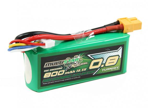 Multistar гонщик серии 800mAh 5S 60C Lipo Pack (Gold Spec)