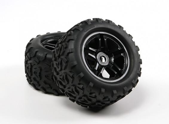 HobbyKing ® ™ 1/8 Гусеничный 155мм Wheel & Tire (черный Rim) (2 шт)