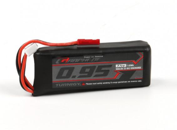 Turnigy Графен 950mAh 2S 65C LiPo Аккумулятор ж / JST-SYP-2P