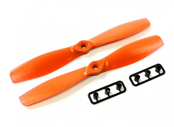 Gemfan 6045-Bullnose GRP / нейлон пропеллеры (CW и CCW) Оранжевый
