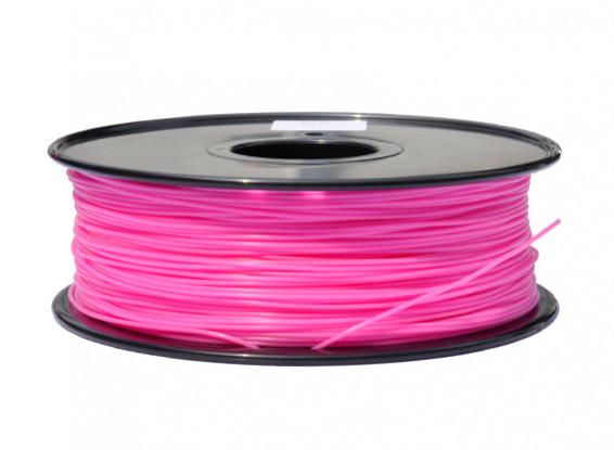 HobbyKing 3D Волокно Принтер 1.75mm PLA 1KG золотника (Hot Pink)