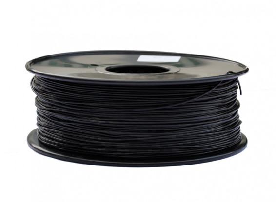 HobbyKing 3D Волокно Принтер 1.75mm PLA 1KG золотника (черный)