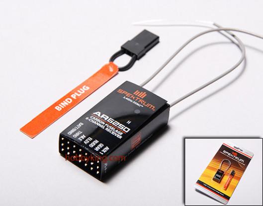 Spektrum AR6250 DSM2 6-канальный приемник углерода Предохранитель