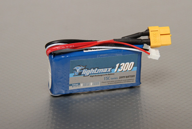 ZIPPY Flightmax 1300mAh 2S1P 15-25C