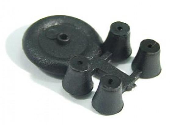 Крошечный колеса для внутреннего / сверхлегких 11мм Diam (10pcs / мешок)