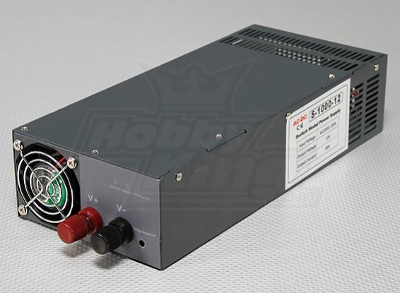 Hobbyking 1000W 10V ~ 13.2V 80A Источник питания постоянного тока (190 ~ 240 В)