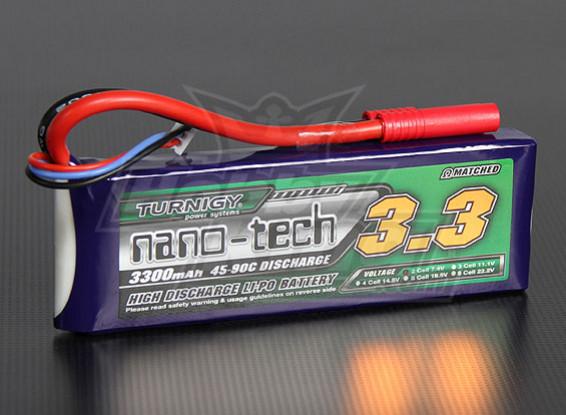 Turnigy нано-технологий 3300mAh 2S 45 ~ 90C Lipo обновления