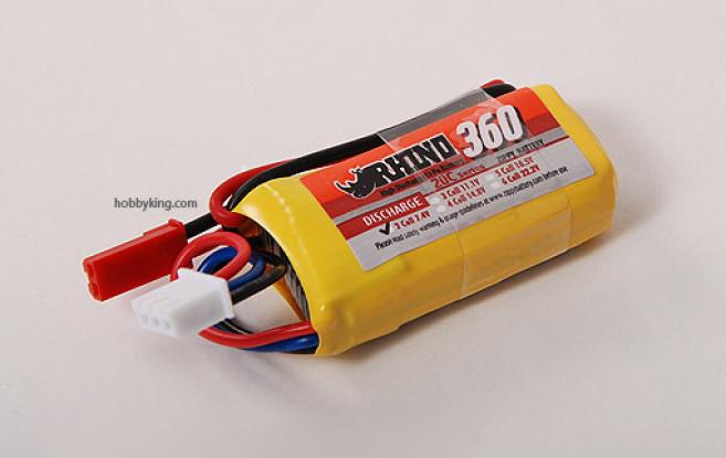 Rhino 360mAh 2S 7.4V 20C LiPoly пакет