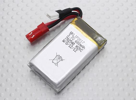 Walkera 600mAh 1S 20C Lipo Аккумулятор (костюмы QR Infra X, V120D02S)