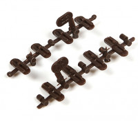 Micro Engineering HO Scale Code 80 to 55 Transition Plastic Insulated Rail Joiners 8pcs (26-004)