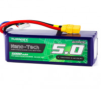 Turnigy Nano-Tech 5000mAh 6S 70C Lipo Pack w/XT90 (HR Technology)