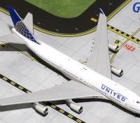 Gemini Jets United Airlines Boeing 747-200 N105UA 1:400 Diecast Model GJUAL1587