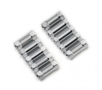 Легкий алюминиевый круглого сечения Spacer M3x13mm (серебро) (10шт)