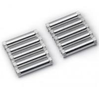Легкий алюминиевый круглого сечения Spacer M3x24mm (серебро) (10шт)