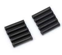 Легкий алюминиевый круглого сечения Spacer M3x24mm (черный) (10шт)