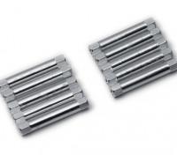Легкий алюминиевый круглого сечения Spacer M3x30mm (серебро) (10шт)
