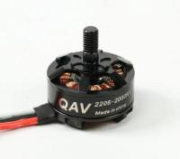 QAV RT2206-2000KV Quad гоночный мотор (CW)