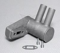 Питтс Глушитель для 15cc газового двигателя