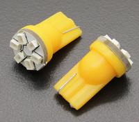 Мозоли СИД Свет 12V 0.9W (6 LED) - желтый (2 шт)