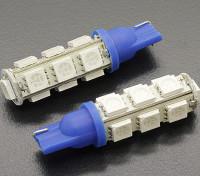 Мозоли СИД Свет 12V 2.6W (13 LED) - Синий (2 шт)