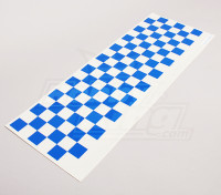 Декаль лист Chequer шаблон Синий / Clear 590mmx180mm