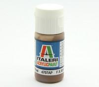 Italeri Акриловая краска - Плоская Земля Красный