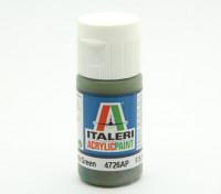 Italeri Акриловая краска - Плоский Темно-зеленый