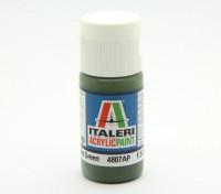 Italeri Акриловая краска - Плоский Русский Доспехи Зеленый