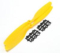 Turnigy Slowfly пропеллер 10x4.5 Желтый (CW) (2 шт)