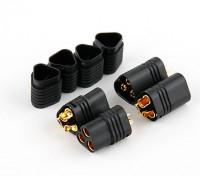 MT60 3 полюса двигателя / ESC коннекторов 12AWG Черный Мужчины - Женщины (2 комплект)