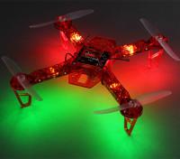 HobbyKing FPV250 В4 Красный призрак Выпуск LED Night Flyer FPV Дрон (красный) (комплект)