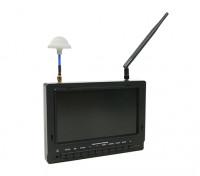 7-дюймовый 800 х 480 40CH Diversity Приемник Sun читаемой FPV монитор ж / DVR Fieldview 777SB (США штекер)