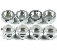 Алюминий Низкопрофильные Nyloc Гайка M5 Серебро (КОО) 8шт