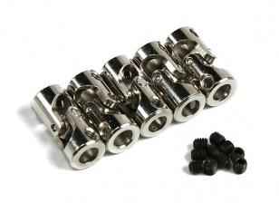 Металл карданного вала Муфта для шлюпки 6мм-6mmxD11xH24mm (5шт)
