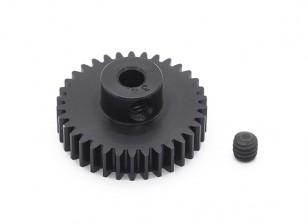 Робинсон Гонки Черный анодированный алюминий шестерней 48 Pitch 34T
